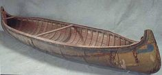 1918 birch bark canoe | The Ojibwe People's DictionaryAlgonquin style birchbark canoe. Its light weight made the canoe easy to carry around rocks and rapids, and its construction from bark, tree roots and resin allowed for repairs en route. This canoe was built in 1918. Type of boat used to gather wild rice in ricing beds.