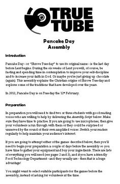 Pancake Day Assembly - An assembly for Key Stages 3 and 4 to celebrate Pancake Day.