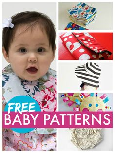 Free baby patterns - bibs burp cloths changing mats diaper covers and more
