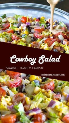 If you're familiar with our cowboy caviar or cowboy pasta salad, you should be pretty excited to see this cowboy salad. Similar to the pasta variety (just without the noodles) this is a hearty salad