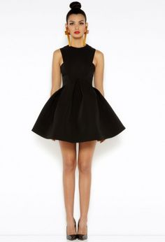 Major Black Skater Mini Dress