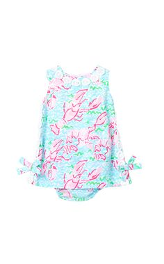 Baby Lilly Infant Shift Dress- Lobster print!? We must have this for our Kennebunkport trip I'm July!