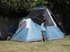 Go Explore Nature: Backyard Campout Activities for Kids. We really must try camping out in our own backyard soon.