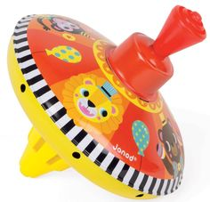 A metal spining top by JANOD, the party animals love to spin around. This is a perfect gift for retro toy lovers. Gift Coupons, Spinning Top, Retro Toys, Gift Store, Animal Party, Educational Toys, Home Accessories, Baby Gifts, Holiday Decor