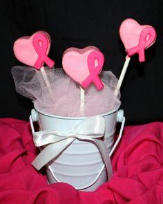 pink ribbon cake pops