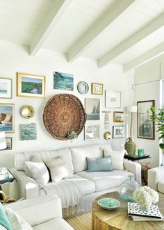 love this eclectic gallery wall with vintage paintings eclecticallyvintage.com