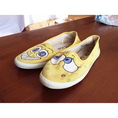 Spongebob shoes paint by nikicio
