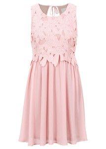 203158685 Różowa sukienka bonprix BODYFLIRT boutique rozkloszowana w stylu ...
