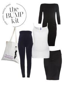 0a591cd7e0075 Black Maternity Dress Black Stretch Maternity Skirt White Secret Support  Vest Black Maternity Leggings Presented in. Seraphine