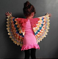 fabric scrap bird wings by lillie. doesn't seem too hard to expand them to my size!