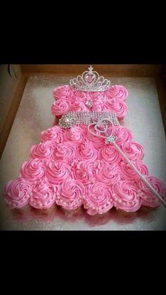 Princess Cupcake Cake by Kim's Cakery Birthday Cake Girls, Princess Birthday, Princess Party, Little Princess, Birthday Cakes, Birthday Ideas, 4th Birthday, Princess Sophia, Barbie Birthday