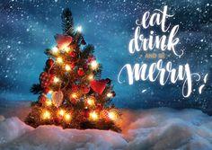 Eat, drink & be merry | Frohe Weihnachten | Echte Postkarten online…