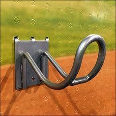 If you prefer horizontal, consider this Baseball Bat Flatback Loop Hook Display. A single size Loop Hook cradles both the Barrel and the thinner Grip. Baseball Bat Display, Hooks, Retail, Bedroom, Diy, Bricolage, Bedrooms, Do It Yourself, Homemade