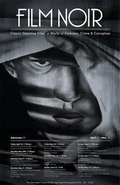 A film noir poster Style Noir, Crime Fiction, Film School, Chiaroscuro, The Villain, Festival Posters, Film Festival, Graphic Design Illustration, Black And White Photography