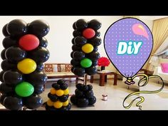 Semáforo de Balões Passo a Passo - how to make balloons Light - YouTube