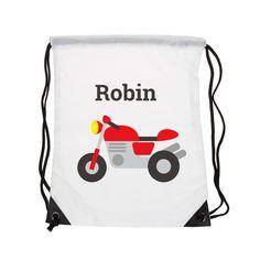 Prêt à partir sur les routes avec ce sac à dos moto ? Orné d'un joli dessin…