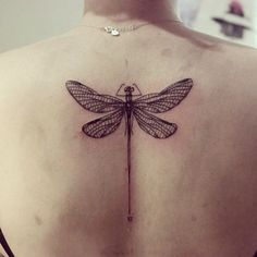 dragonfly tattoo on back                                                                                                                                                                                 More