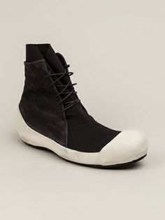 LOST AND FOUND - panelled hi-top sneaker 6