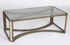 GABBY | Camille Coffee Table Top DetailFinish Brass, Natural Bone & Clear Glass 50 W x 30 D x 18.5 H