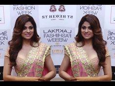 Shamita Setty looks stunning in GHAGRA CHOLI at Lakme Fahion Week 2016.