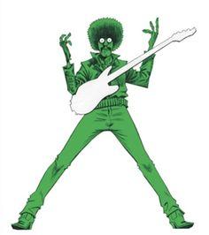 Phil Lynott  by Jamie Hewlett