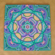 Mandala de 30x30 colores aguamarina azul turquesa for Pintura azul aguamarina