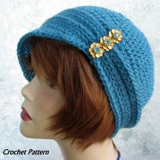 Womens Crochet Hat Pattern Cloche With Ribbing And Small Brim Instant Download May Resell Finished by kalliedesigns on Etsy