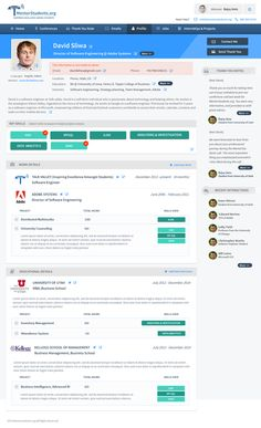 Resume type Profile page redesign by Dream Designs ™