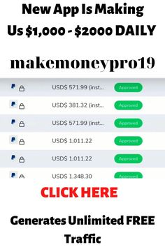 New App Is Making Us $1,000 - $2000 DAILY On Complete Autopilot & Generates Unlimited FREE Traffic! #makemoney #makemoneyonline #howtomakemoney #makemoneypro19 New Things To Learn, Cool Things To Buy, Best Farm Dogs, Live Cricket Match Today, Friendship And Dating, Algorithm Design, Some Love Quotes, Free Facebook Likes, Young Fathers
