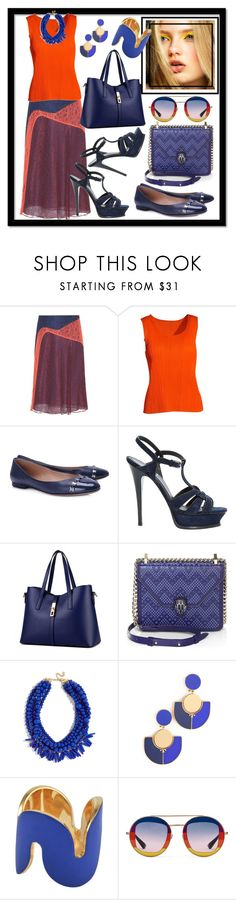 """""""??"""" by kareng-357 ❤ liked on Polyvore featuring Tory Burch, Pleats Please by Issey Miyake, Salvatore Ferragamo, Yves Saint Laurent, WithChic, Bulgari, BaubleBar, Uncommon Matters and Gucci"""