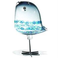 Alessandro Pianon Pulcini Vistosi Italy, c. 1963 glass, copper 4 w x d x h inches Ceramic Cups, Ceramic Art, Fused Glass, Stained Glass, Sparrow Art, Bird Quilt, Blown Glass Art, Glass Artwork, Animal Decor