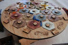 Old West Settlers of Catan Board Game (COMPLETE) - RavenWoodGripsLLC on Etsy.com A beautiful creation, I'd be afraid to actually play with this