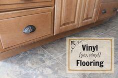 I Can't Believe It's Not Tile {Floors}  #kitchen #flooring