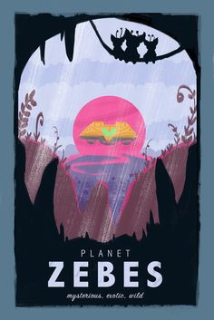 Vintage Metroid Travel Poster - iPhone Wallpaper | Martin Montgomery