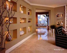 Wohnzimmer, Flur Ideen, Wandnischen, Dekorative Wände, Hausdekorationen,  Wohnideen, Familienzimmer, Haus Design, Große Badezimmer