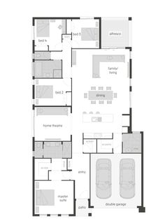 Montego floor plan by McDonald Jones. is no longer available however we have many award winning alternatives to meet you needs. 4 Bedroom House Plans, Dream House Plans, Modern House Plans, Small House Plans, House Floor Plans, My Dream Home, Mcdonald Jones Homes, Home Design Floor Plans, House Blueprints