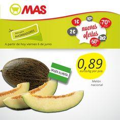 El melón de Almería a 0,89€ a partir de hoy: fresco y muy dulce para estas temperaturas de #verano!