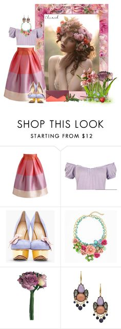 """""""SPRING"""" by concettodimoda ❤ liked on Polyvore featuring Quirky, Chicwish, WearAll, Charlotte Olympia, David Aubrey and Chloé"""