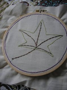 Leaf Embroidery project