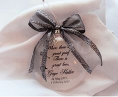 """In Memory Ornament of Loved One """"A Feather From a Guardian Angel"""" Memorial Ornament Gift of Remembrance of Mother Loss of Mom, Loss of Dad Memorial Ornaments, Glass Christmas Ornaments, Christmas Diy, Tribute To Dad, M M Candy, Loss Of Loved One, Own Quotes, Great Love, How To Make Ornaments"""
