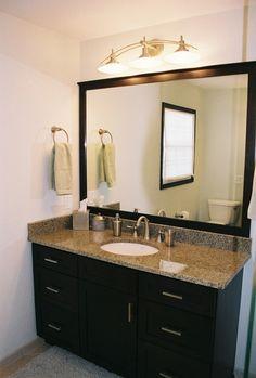 Espresso Bathroom Mirror PCD Homes