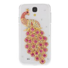 Peacock Pattern Hard Case with Rhinestone for Samsung Galaxy S4 I9500 - Galaxy S4