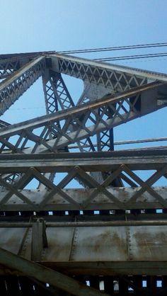 Train bridge crossing. Shreveport Louisiana.