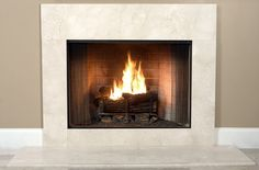 Buy a full size Antique Beige Marble fireplace surround facing kit for an impressive and professional designer look. An upgrade alternative to common square tiles. Slate Fireplace Surround, Fireplace Facing, Limestone Fireplace, Concrete Fireplace, Home Fireplace, Faux Fireplace, Fireplace Inserts, Fireplace Surrounds, Fireplace Mantels