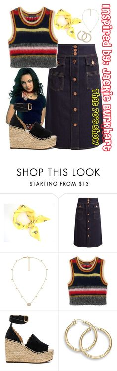 """""""Inspired by: Jackie Burkhart"""" by haybelle0207 ❤ liked on Polyvore featuring Episode, See by Chloé, Gucci, Chloé and that70sshow"""