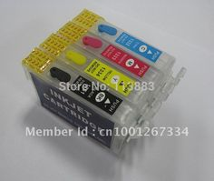 94.05$  Buy now - http://aliusn.worldwells.pw/go.php?t=614843922 - Wholesale free shipping 126 T1261 T1262 1263 T1264 Refillable ink cartridge for EPSON Workforce 630 633 635 60 840 printers 94.05$