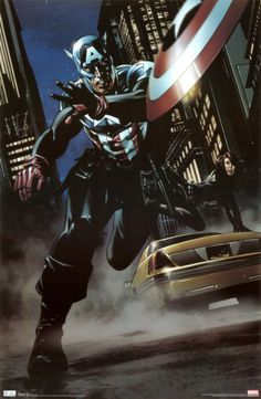 A great poster of Captain America and Black Widow of The Avengers! An action scene from Marvel Comics. Check out the rest of our amazing selection of Avengers posters! Need Poster Mounts. Captain America Poster, Captain America Black Widow, Captain America Comic Books, Marvel Captain America, The Avengers, Avengers Poster, Poster Marvel, Marvel Comics, Marvel Heroes