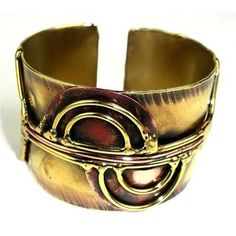 Cello Brass and Copper Cuff - Brass Images (C)