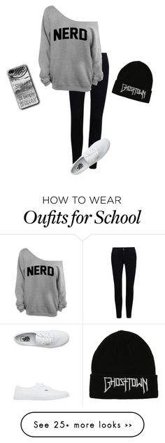 """""""school /:"""" by acf910 on Polyvore featuring Vans, nerd and boring"""