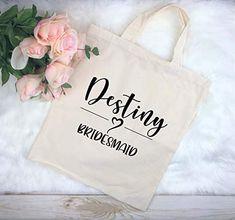 Bridesmaid Gifts, Bridesmaid Tote, Personalized Wedding Tote